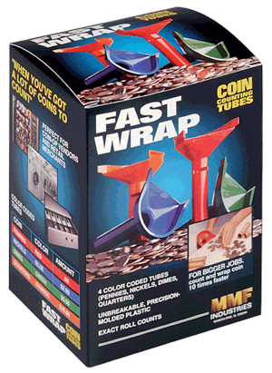 Fast Wrap - Coin Counting Tubes 1c-25c