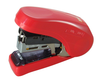 Flat Clinch Stapler - Ergonomic Style (Red)