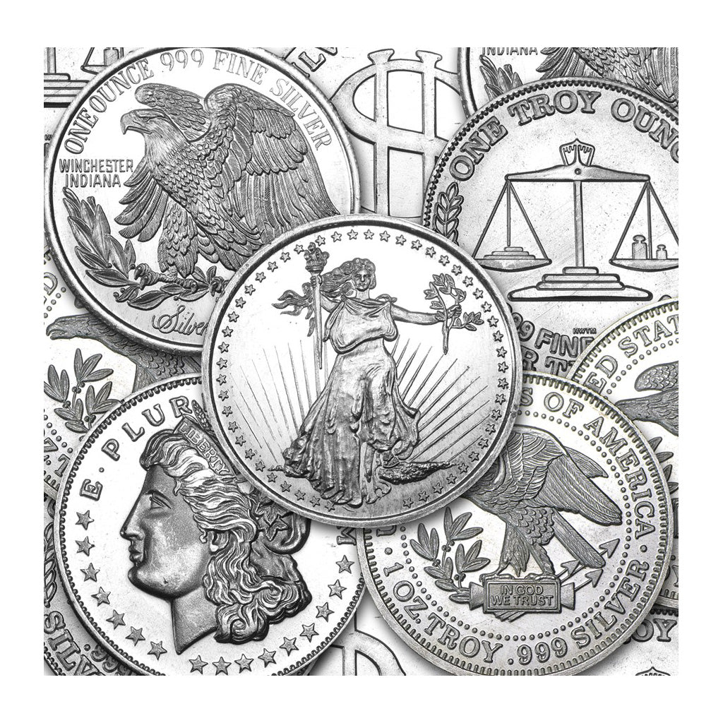 1 oz Silver Round - Generic Design (Secondary Market)