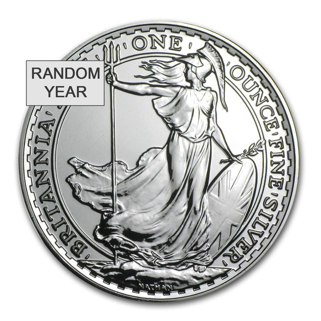 1 oz Great Britain Silver Britannia Mint State (Random Year)