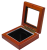 Guardhouse 3.87x3.87 Glass-top Wood Display Box - Holds Extra Large Sized Capsule