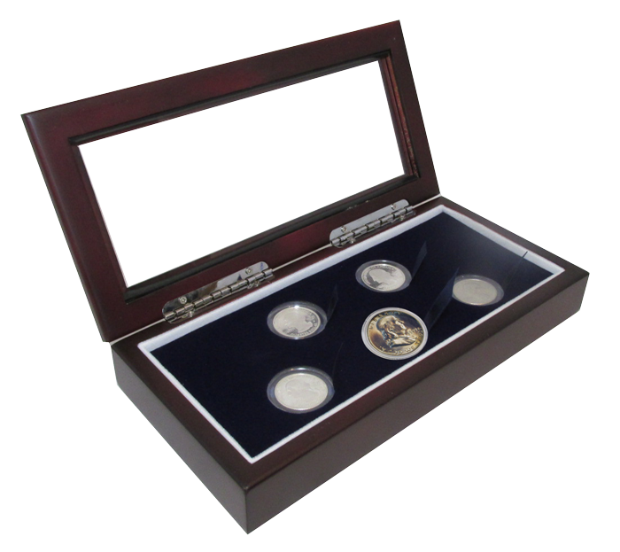 Round Coin Holder Display Boxes