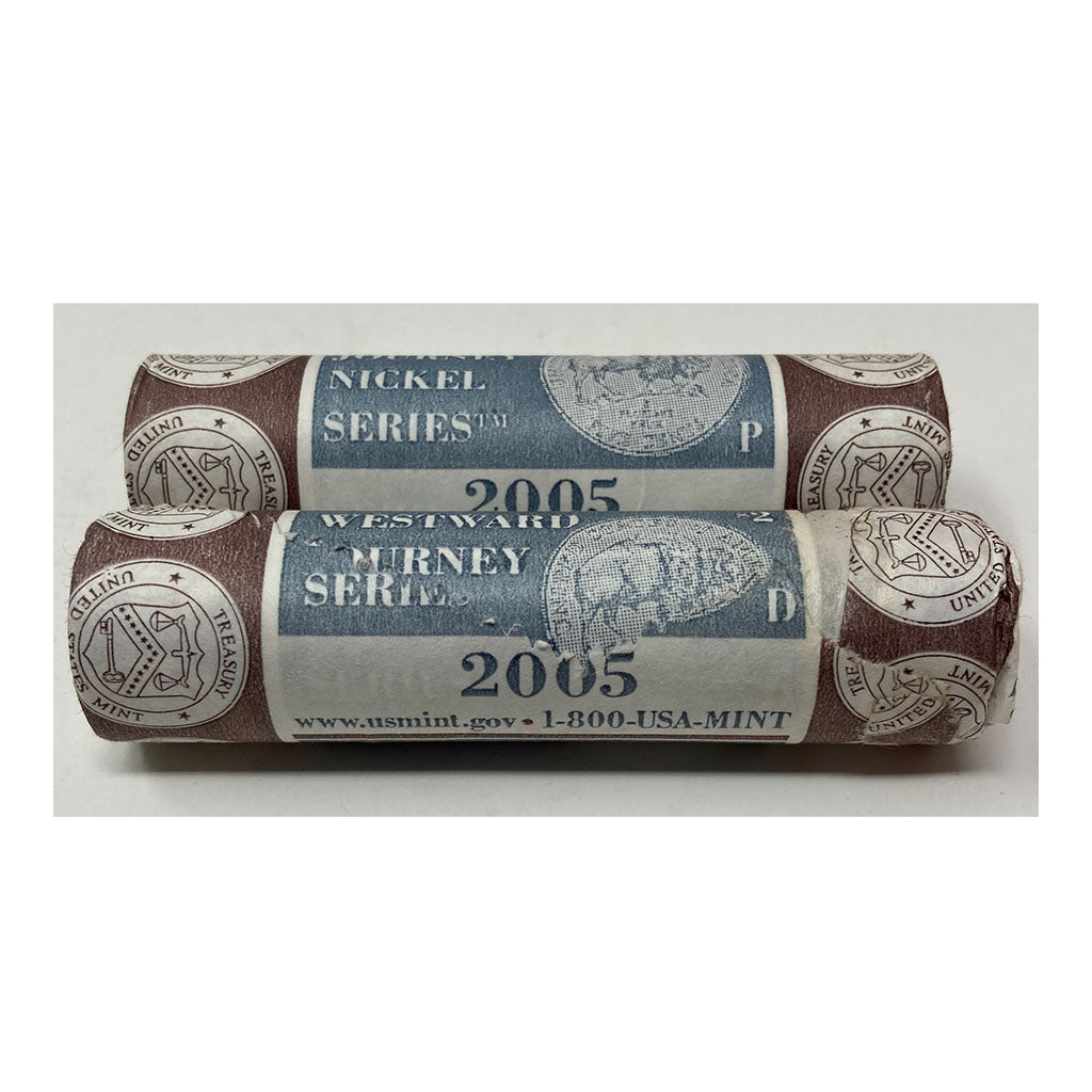 2005 Westward Journey Jefferson Nickel Bison P&D U.S. Mint Rolls