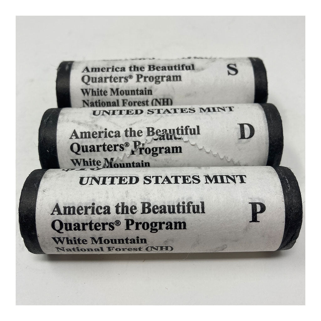 2013 ATB Quarter White Mountain National Forest NH PDS U.S. Mint Rolls
