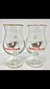 Gulden Drak Gold Rim Belgian Tulip Beer Glass Set of 2