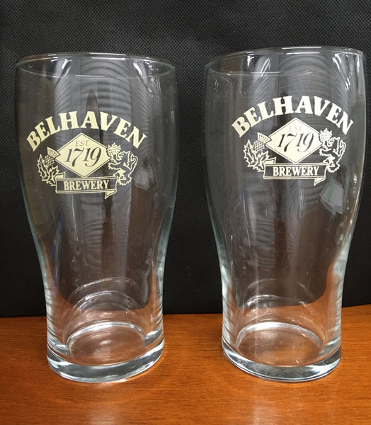 Belhaven Brewery Beer Pint Glasses Set of 2