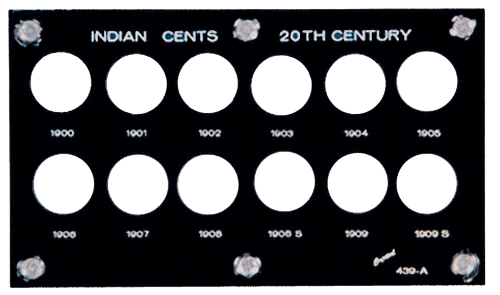 Indian Cents 20th Century (1900-1909) (Includes 1908S +1909S), Capital Plastics, Black