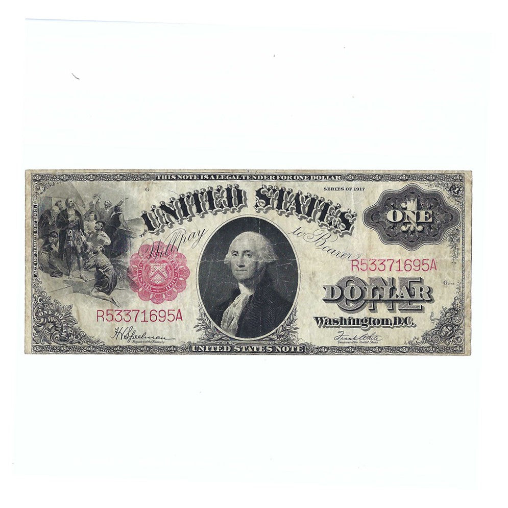 1917 $1 Large Size Legal Tender U.S. Note, FR39, Speelman-White, Circulated