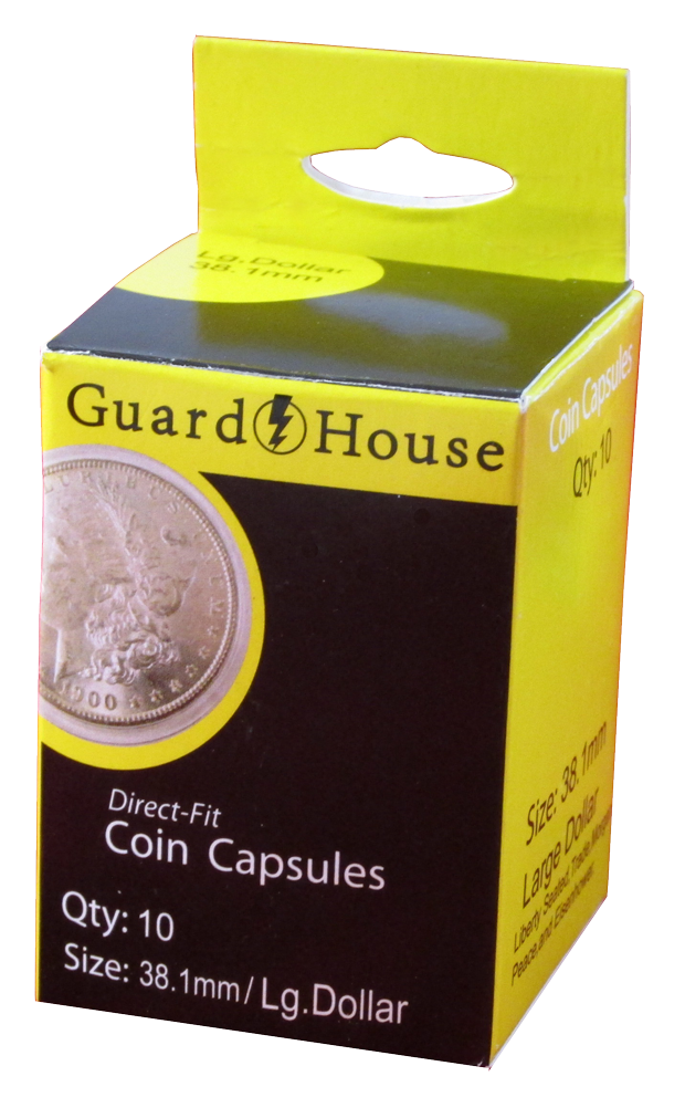 Large Dollar (38.1mm) Direct-Fit Coin Capsules - 10 Pack