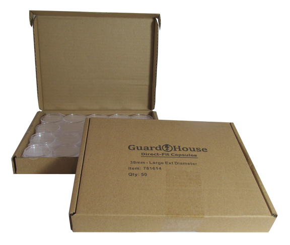 Large Dollar 38.1mm Direct-Fit Guardhouse coin holders - (L dia) / 50 per box.