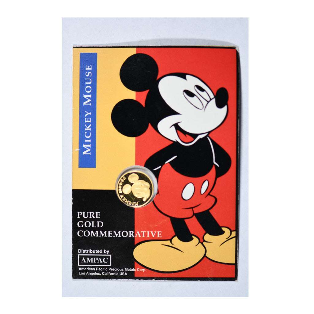 Mickey Mouse Disney 1/25 oz Commemorative Gold Piece