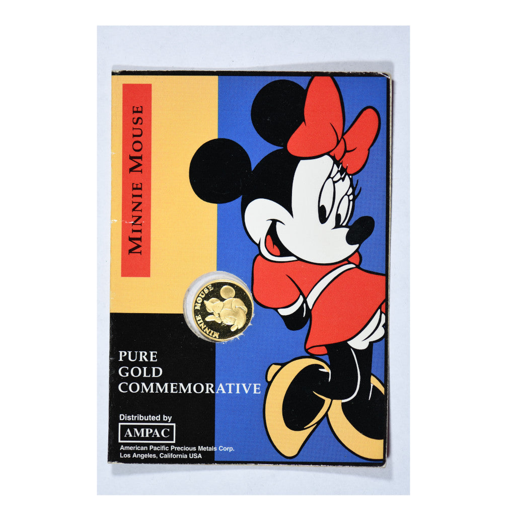 Minnie Mouse Disney 1/25 oz Commemorative Gold Piece