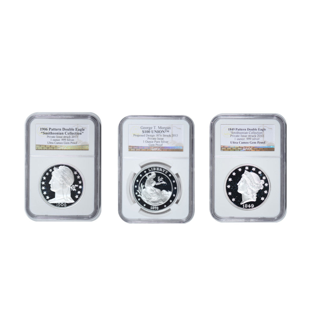 Pattern Double Eagle and George Morgan Mintmasters Silver Set NGC (3 Coin Set) Proof