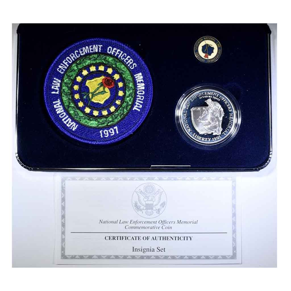 1997 National Law Enforcement Silver Dollar Insignia Set Commemorative Proof