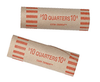 Nested-Preformed Quarter Tube Coin Wrappers