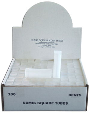 Numis Square Coin Tube -Cent-100/bx