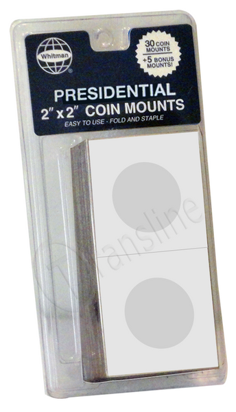 Paper Coin Mounts - Presidential Dollars