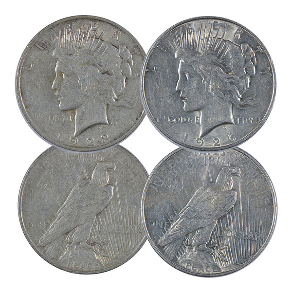 1922 - 1935 Peace Dollar (Very Good - Extra Fine) *Random Year* *Roll of 20*