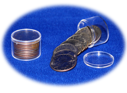 Quarter Coin Tubes pack 100 (10 Coins)