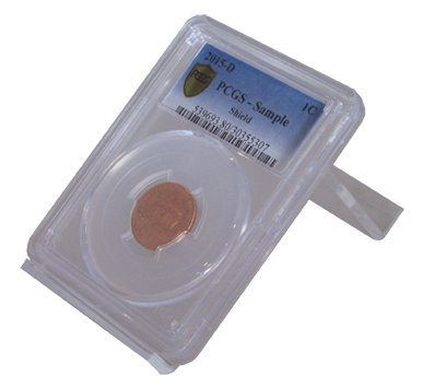 Single Slab Certified Coin Easel Display