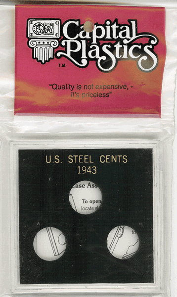 Steel Cents of 1943 (No Dates)