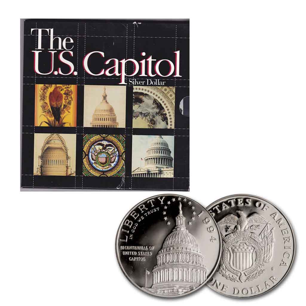 1994 U.S. Capitol Silver Dollar Special Edition Commemorative Proof