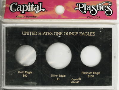 U.S. Eagles (Silver, Gold, Platinum), Capital Plastics, Black