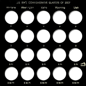 U.S. State Quarters for the year 2007 (p,d,pr,spr)