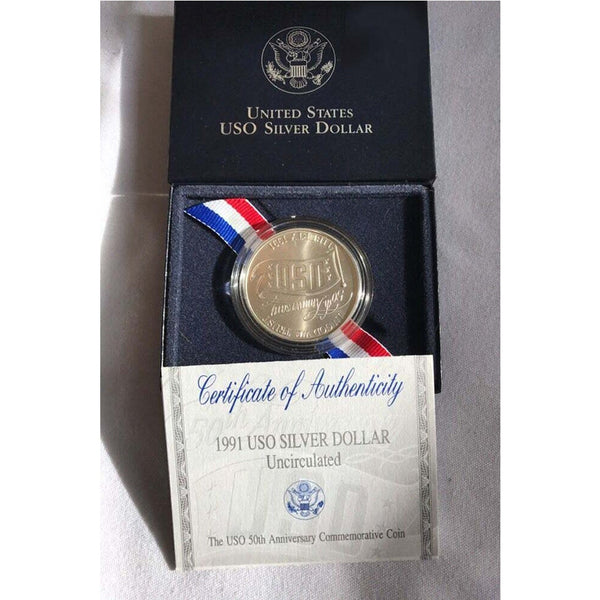 1991 USO Commemorative Silver Dollar Mint State