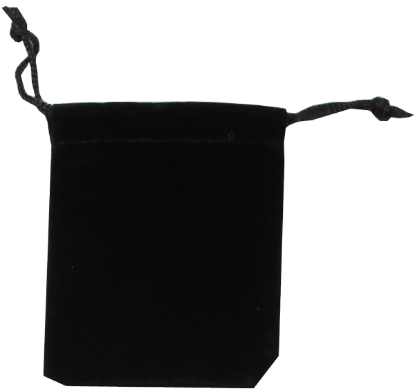 Velour Drawstring Pouch - 2.75x3.25 Black