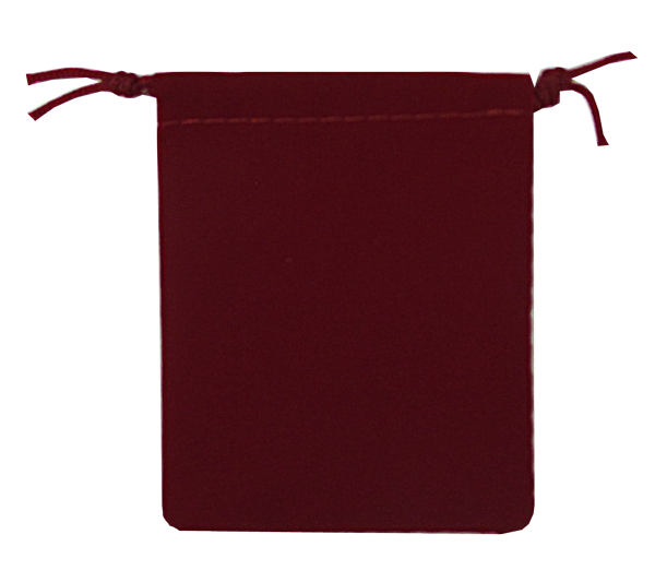 Velour Drawstring Pouch - 2.75x3.25 Maroon