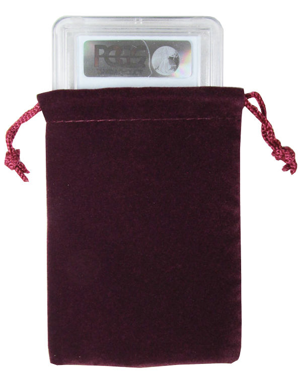 Velour Drawstring Pouch - 3x4.25 Maroon
