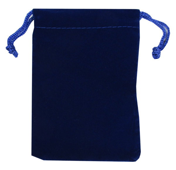 Velour Drawstring Pouch - 3x4.25 Royal Blue