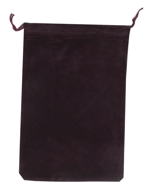 Velour Drawstring Pouch - 5x7.5 Maroon