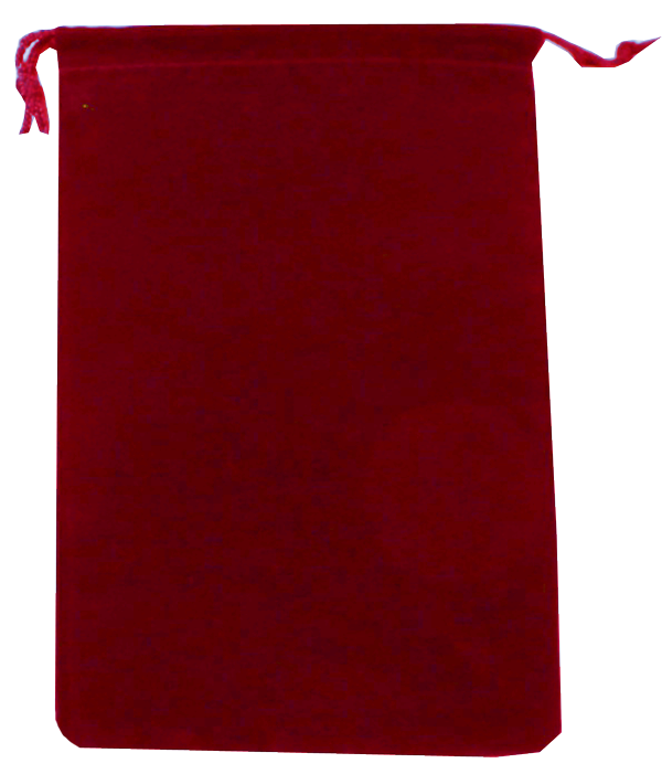 Velour Drawstring Pouch - 5x7.5 Red