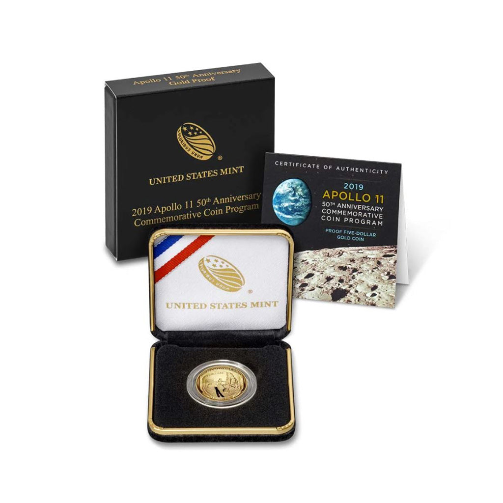 2019-W Apollo 11 50th Anniversary Commemorative Gold $5 Proof