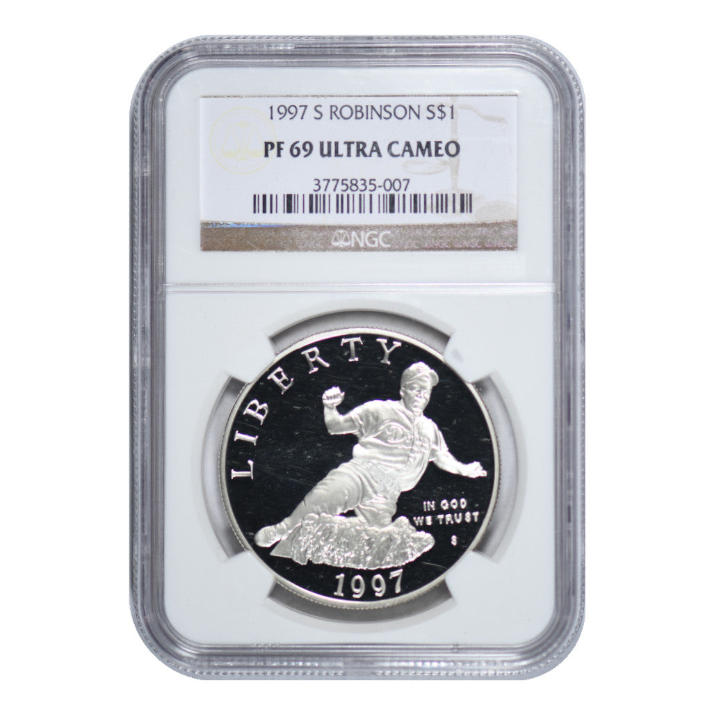 1997-S Jackie Robinson Commemorative Silver Dollar NGC PR69UC