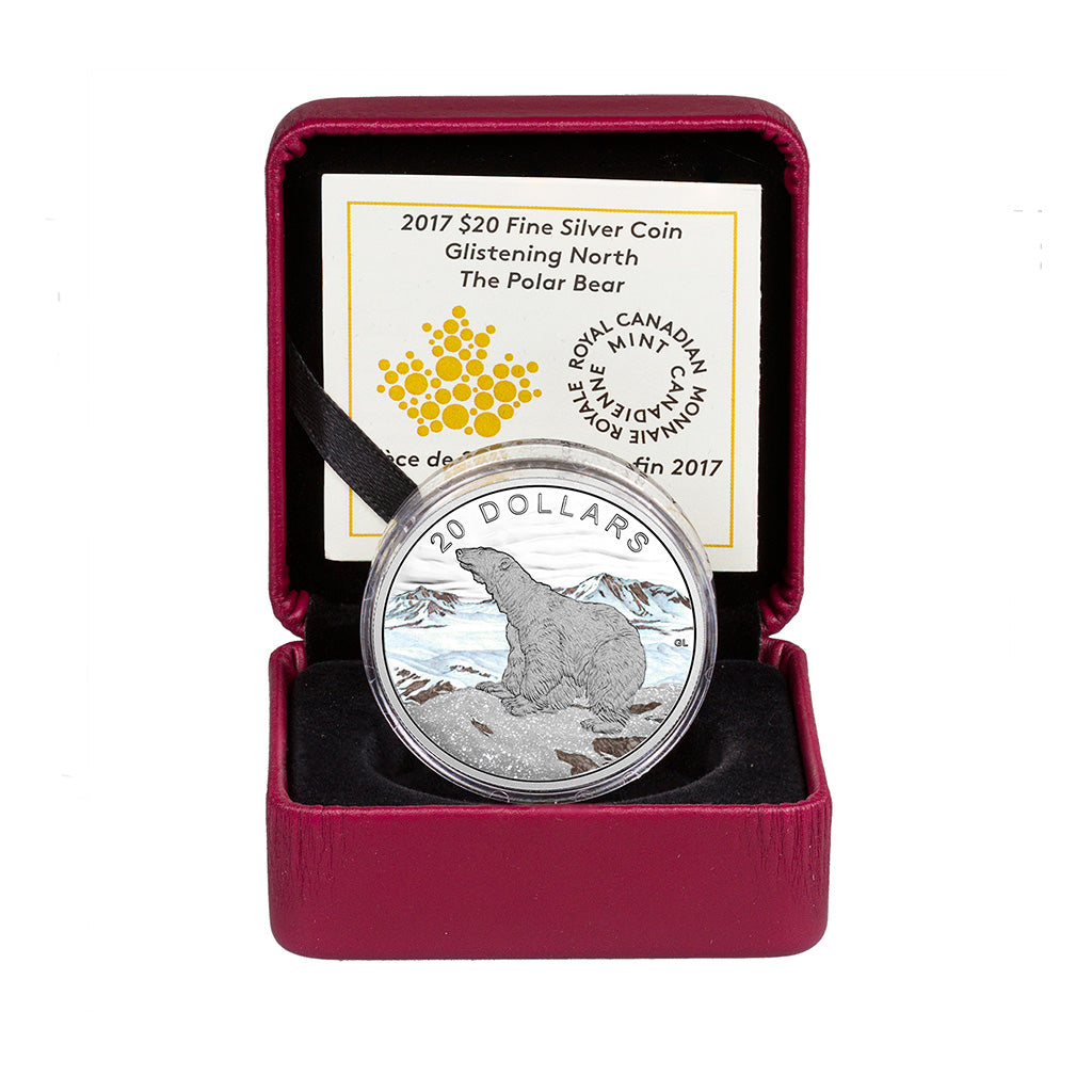 2017 $20 Glistening North: The Polar Bear Silver Coin