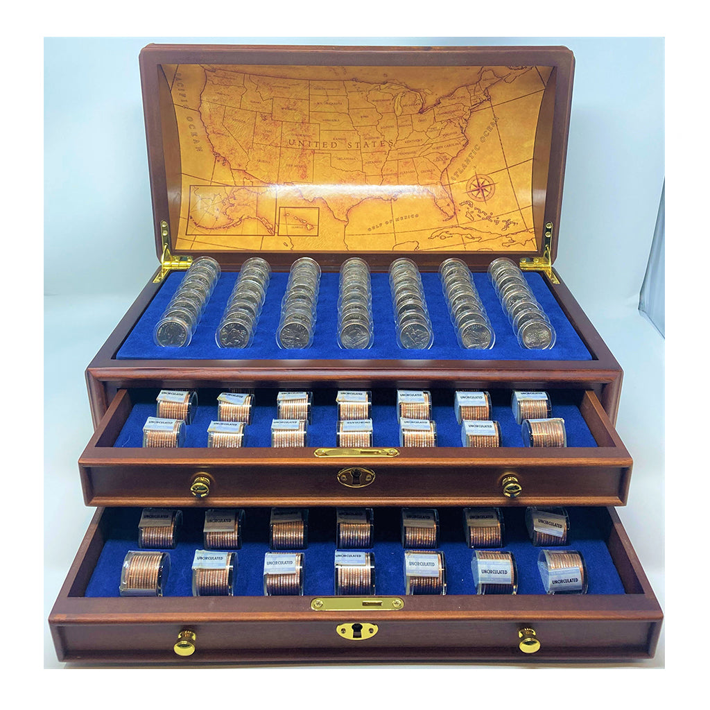 Danbury Mint State Quarter Treasure Chest Complete Set