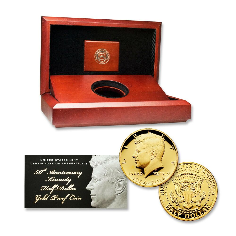 2014 Kennedy 50th Anniversary Gold Half Dollar Proof