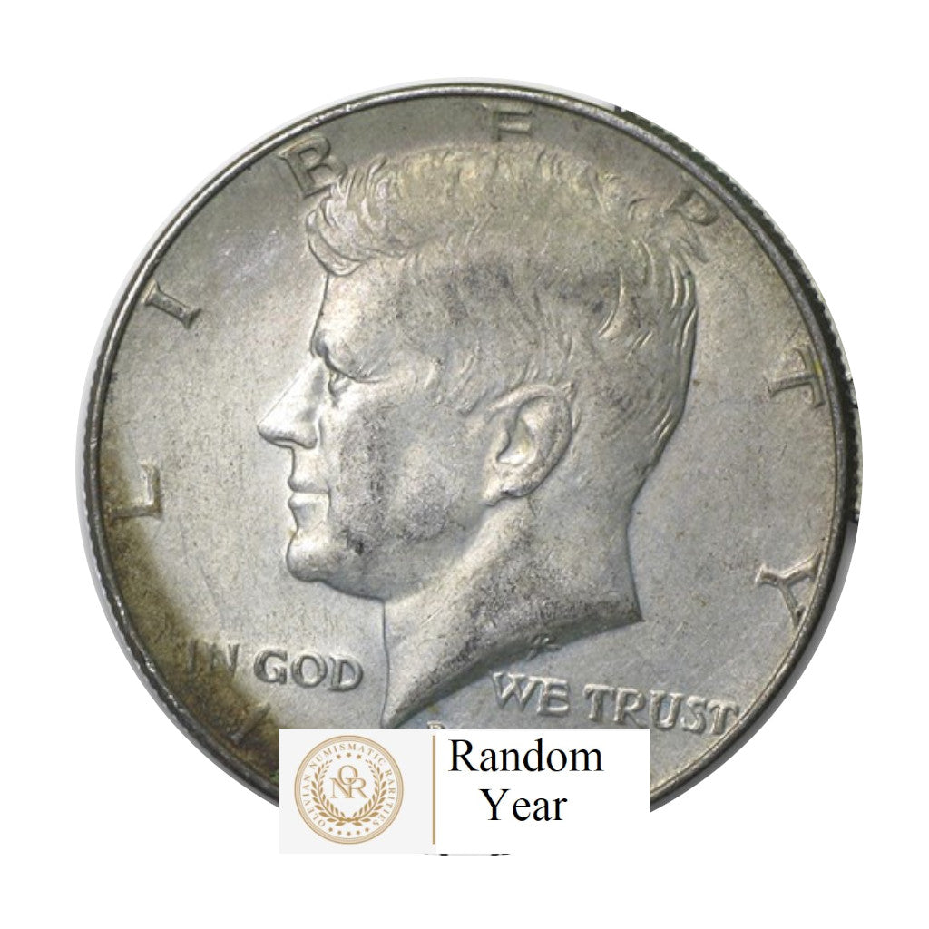 40% Silver Kennedy Half Dollar  Average Circulated $10 Face