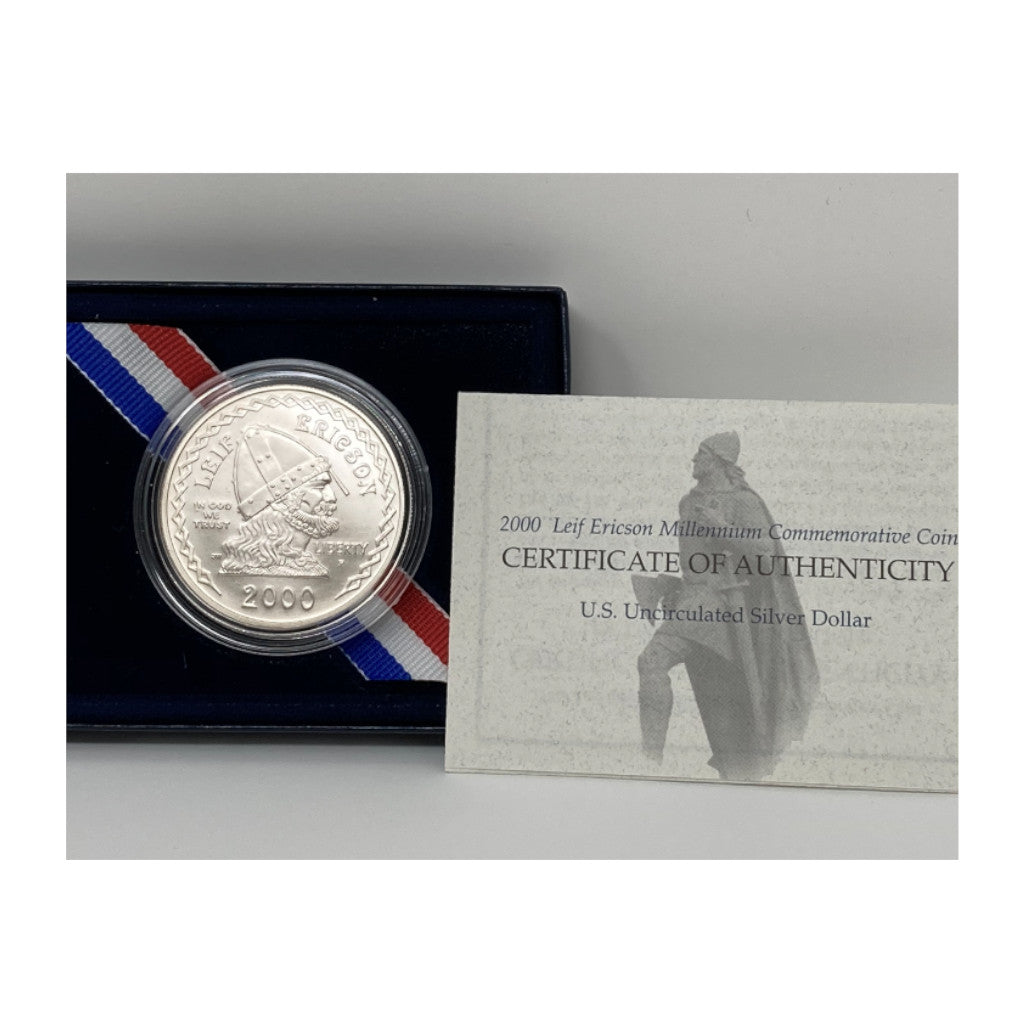 2000-P Leif Ericson Commemorative Silver Dollar Mint State