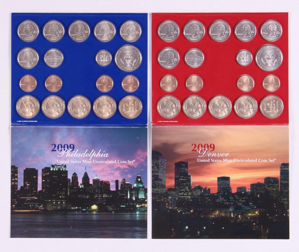 2009-P&D U.S. Uncirculated Set: 36-Coin Set in Original Packaging