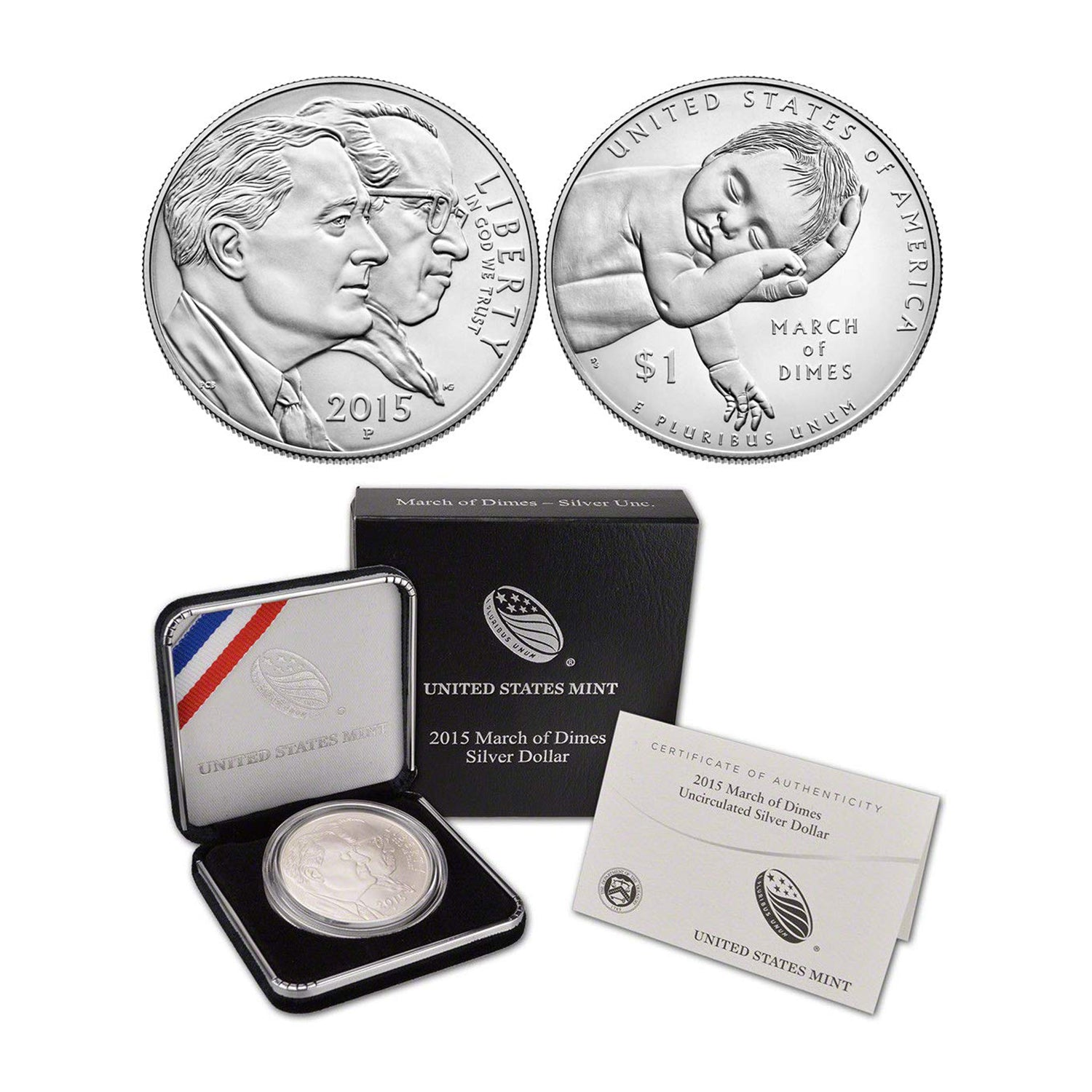2015-P March of Dimes Commemorative Silver Dollar Mint State