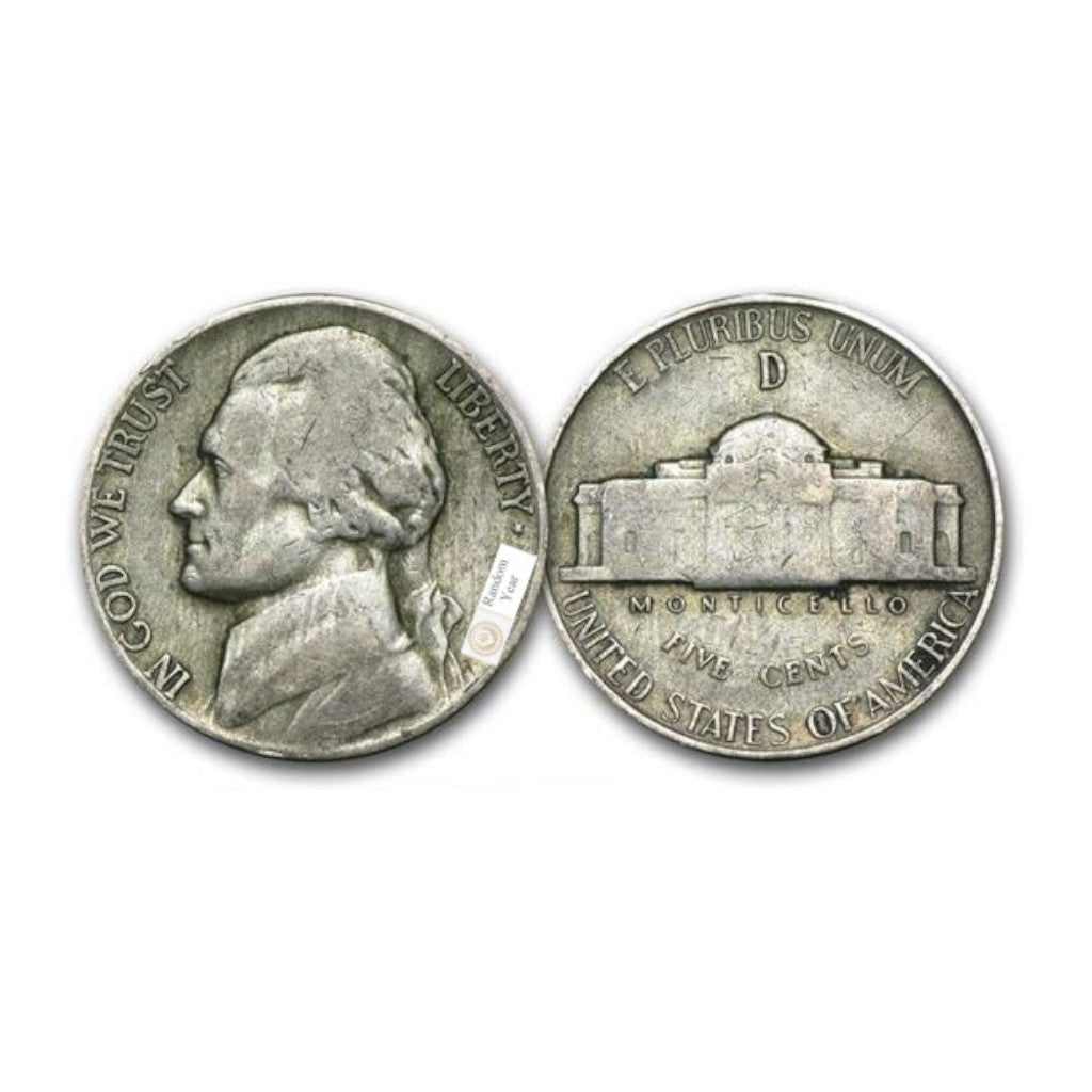35% Silver Jefferson War Nickel Average Circulated $1 Face