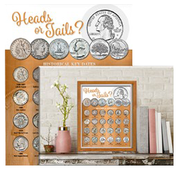 Whitman Deluxe Coin Board: Quarter