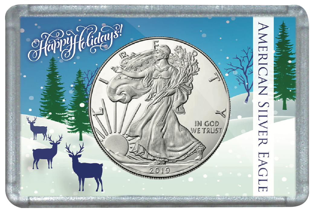 ASE Frosty Case - Deer in Snow Meadow Holiday Christmas