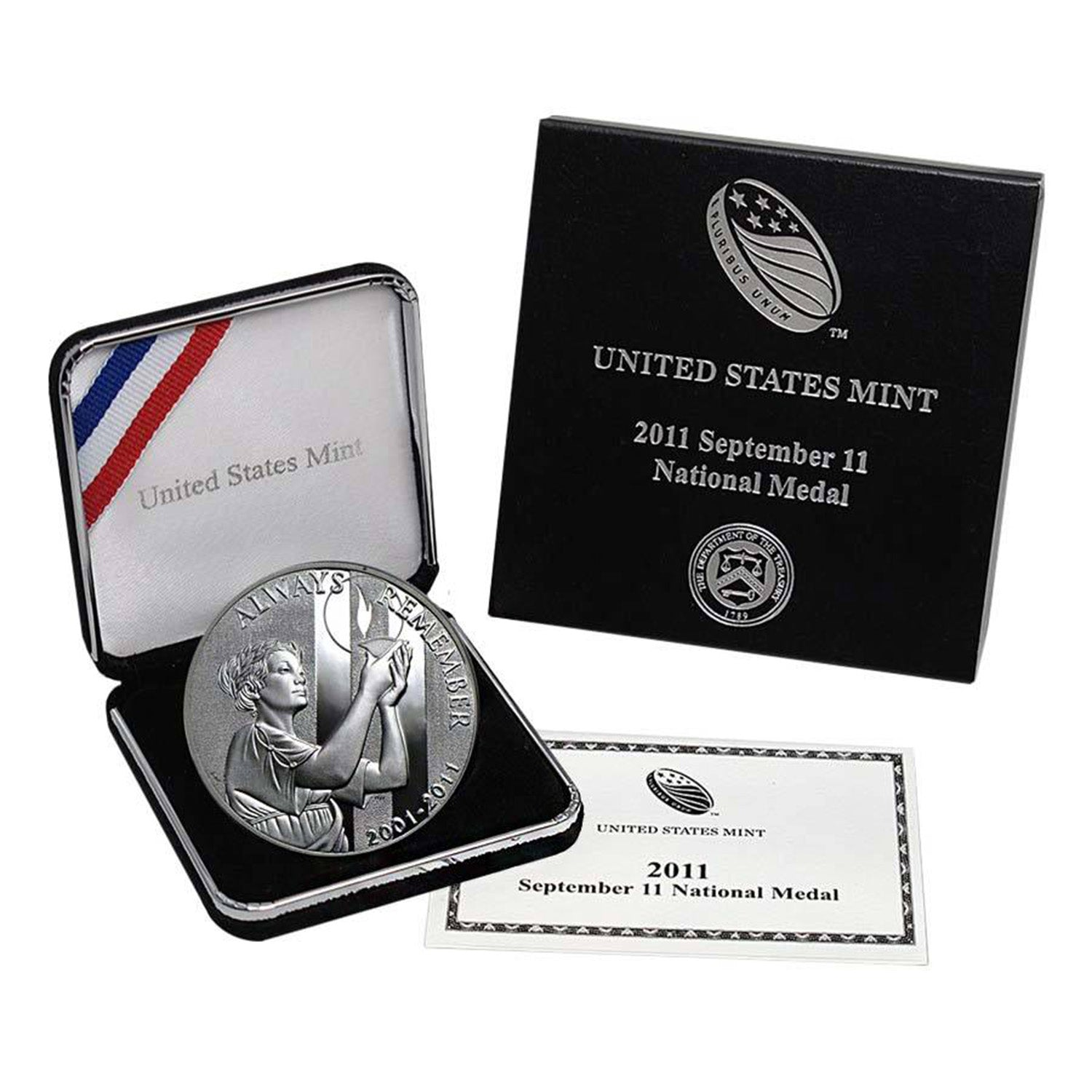 2011-P September 11th National Medal Commemorative Silver Dollar Proof
