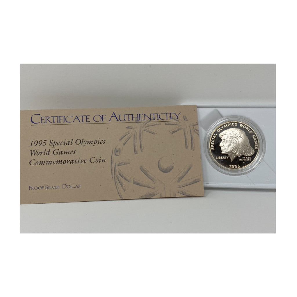 1995-P Special Olympics $1 Silver Proof Commemorative