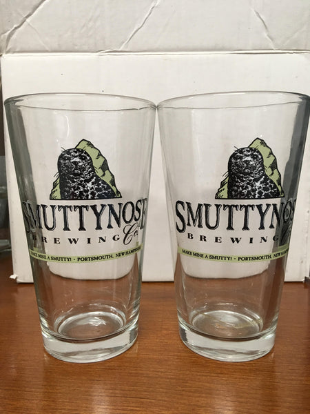 Smutty Nose Brewing Co. Portsmouth New Hampshire Beer Glasses Set of 2